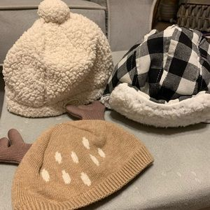 Lot of winter hats baby